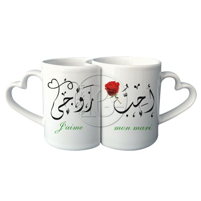 Mug couple Rose
