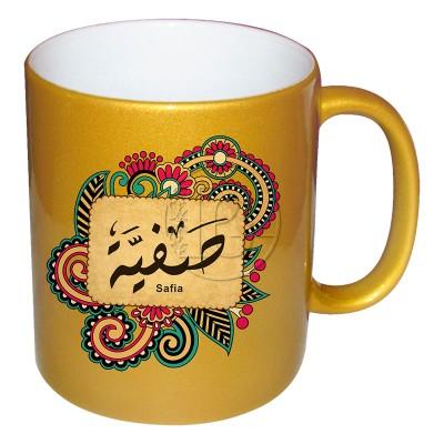 Mug Personnalisable Femme Signification du prénom - doré