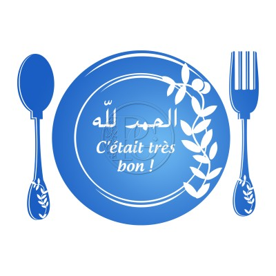 Sticker Assiette couverts