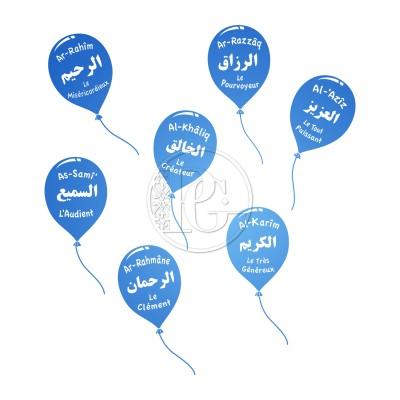 Sticker Ballons Noms d'Allah - le Pack
