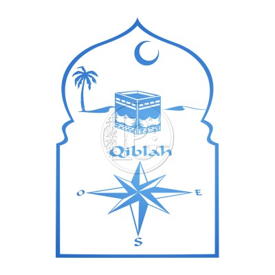 Sticker Qiblah