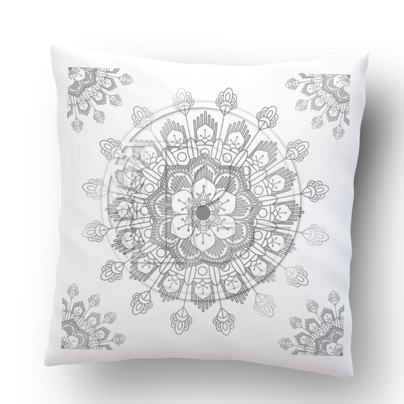 Coussin Madala version 3 ARGENT